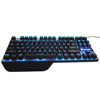Wholesale hot requests for gaming keyboard with 87 keys metallic overall design best led gaming keyboard factory China