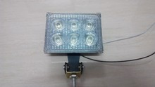 6w input voltage 12 to 80v Die cast Aluminum led working light bar housing cover