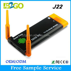 Factory Direct Selling J22 distributors canada RK3188 Cortex A9 2g 8g SPIDF wireless Android HDMI TV Stick