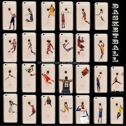 Basketball Player Jordan plastic clear mobile phone case for iphone 6