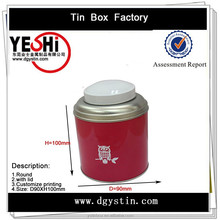 Factory selling metal round candy tin can with custom design