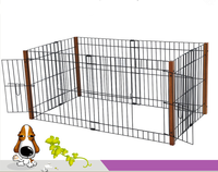 Adjustable size unque hot selling welded mesh style indoor dog kennels,folding puppet dog cage