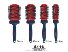 Professional ionic round hair Massage Brush plastic hair combs ceramic hair brush