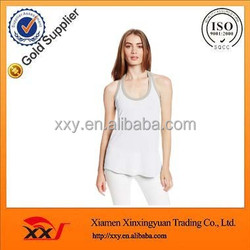 Ameican style blank stylish scoop neck fashion girls sleeveless sexy tops