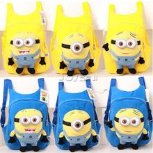Despicable me Plush Backpack Blue Minions Bag Jorge Dave Stewart School Bags