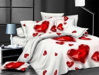 stock wholesale winter 3d diamond wedding flocked luxury silk bedding set