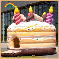 Birthday Cake Design Inflatable castle Inflatable bounce house
