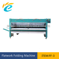Commercial laundry cloth folding machine