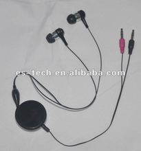High quality earphone with mic for computer