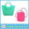 Lady fashion silicone handbag/women silicone tote bag hot silicone hand beach bag in China