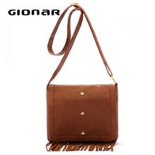 Fashion leather bag for girls PU long strap brand bag