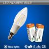 2015 new design Dimmable 4w led filament bulb E14 C35 LED candle light bulb