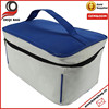 27x18x16cm white with blue top fashion cosmetic makeup bag pouch