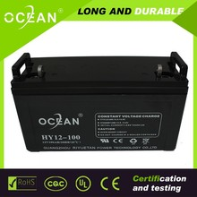 UPS battery 12v100ah solar battery, lead acid battery manufucturer in China
