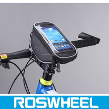 2015 stylish bicycle phone punch bag with PU leather 11810M handlebar grips
