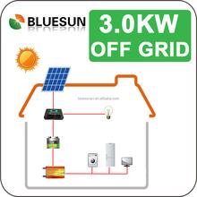 Bluesun good price 3kw off grid home solar panel kit