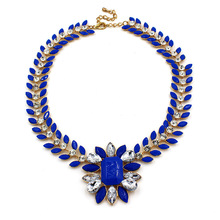 High quality fashion necklace handmade beaded epoxy resin jewelry
