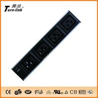IEC C19 type 6 way Aluminum shell power strip with light