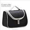 Satin cosmetic bag black hanging toiletry bag