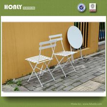 Space saving outdoor furniture folding white wrought iron outdoor furniture