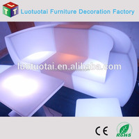Manufacture--2015 New corner led illuminated sofa/cordless led light up outdoor furniture with remote control