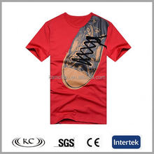 bulk wholesale usa 100% cotton shoes print design t shirts for money