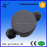 IP66 black round electrical junction box waterproof