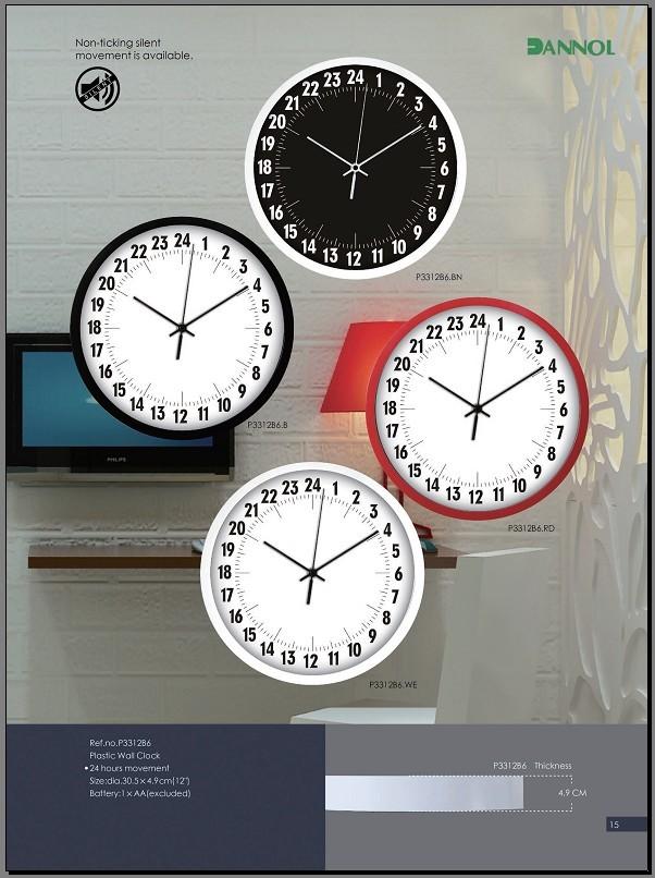 Wall Clock 2016 New Plastic Wall Clocks China 24 Hour