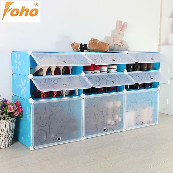 Portable pliant en plastique moderne armoire chaussures for Meuble a chaussure plastique