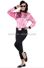 Adult Greaser Babe Pink Ladies jacket Costume BWG-2635