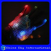 Top Grade Classical Promotional Fashion Led Light Up Gloves