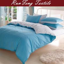 Blue and white hotel duvet comforter cover 4 pcs bedding set