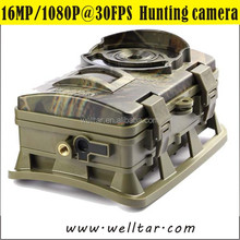 CE FCC RoHs Approved 1080P Trail Camera 16 Mega Pixels Color Screen Hunting Camera with Audio Recording