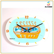 1-3mm Newest style and high quality cartoon shaped design decorative metal wall clock for kids