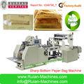 bolsa de papel kraft que hace la máquina con la ventana de la panadería fpr