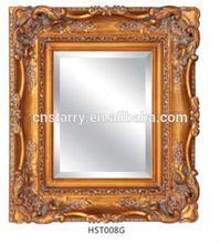 oro antiguo tallado en madera marco del espejo para la decoración