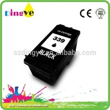 Recycled 339 black printer cartridge for hp Deskjet 5740, 6520, 6540 refillable ink cartridge for hp