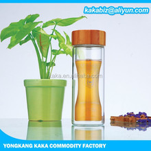 400ml glass bottle with bamboo lid