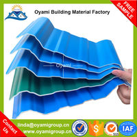 Enviromental low price 3 layers pvc synthetic resin ridge roof tiles for industrial warehosue