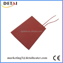 12V DC Car 3M Stick-on Silicone Rubber Heater Hot Pad