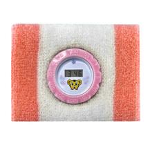 Sport sweatband watch, Athletic wristband pedometer watch bag, promotional jogging wrist band clock terry towel gift watch