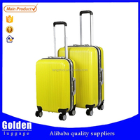 new product hard plastic suitcase sets aluminum opening high quality trolley suitcase double lock travel suitcase