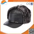 Sombrero del invierno / sombrero de cuero / del mens del invierno sombrero de piel de cuero