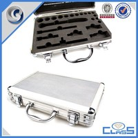 silver handle carrying industrial aluminum box tool case production display case with EVA