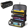 Roll Up Bathroom Organizer Household Essentials Hanging Toiletry Cosmetics Travel Bag