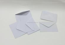 Machine made cheap price the white paper gift envelope,white paper envelope
