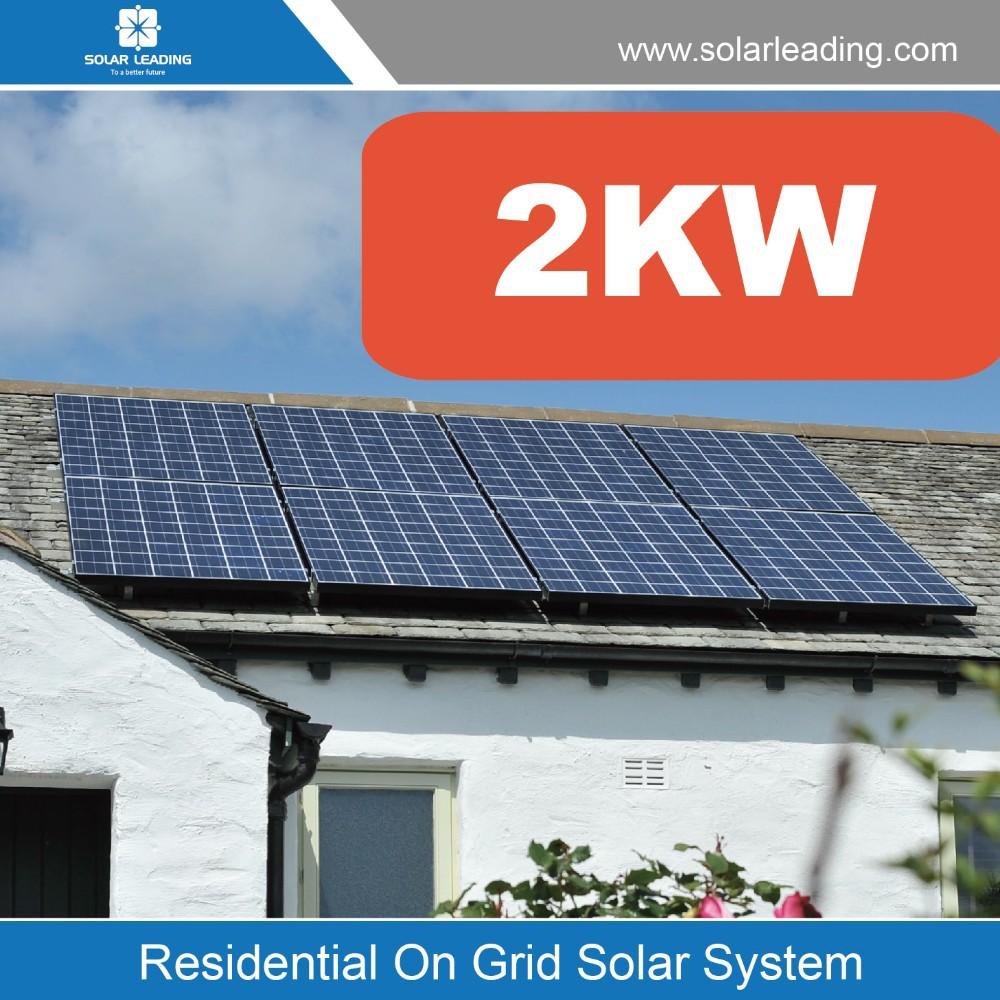 Sri Lanka Solar Panel System 2kw Solar PV Array On Net Metering For