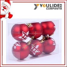 XMAS Colorful Shiny five-pointed Star Plastic Christmas Tree Decoration hanging Balls