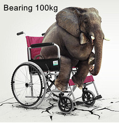Health Care Supplies wheelchair manual portable aluminum transport wheelchair with swing away footrest wheelchair