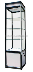 Retail store glass mobile phone display showcase
